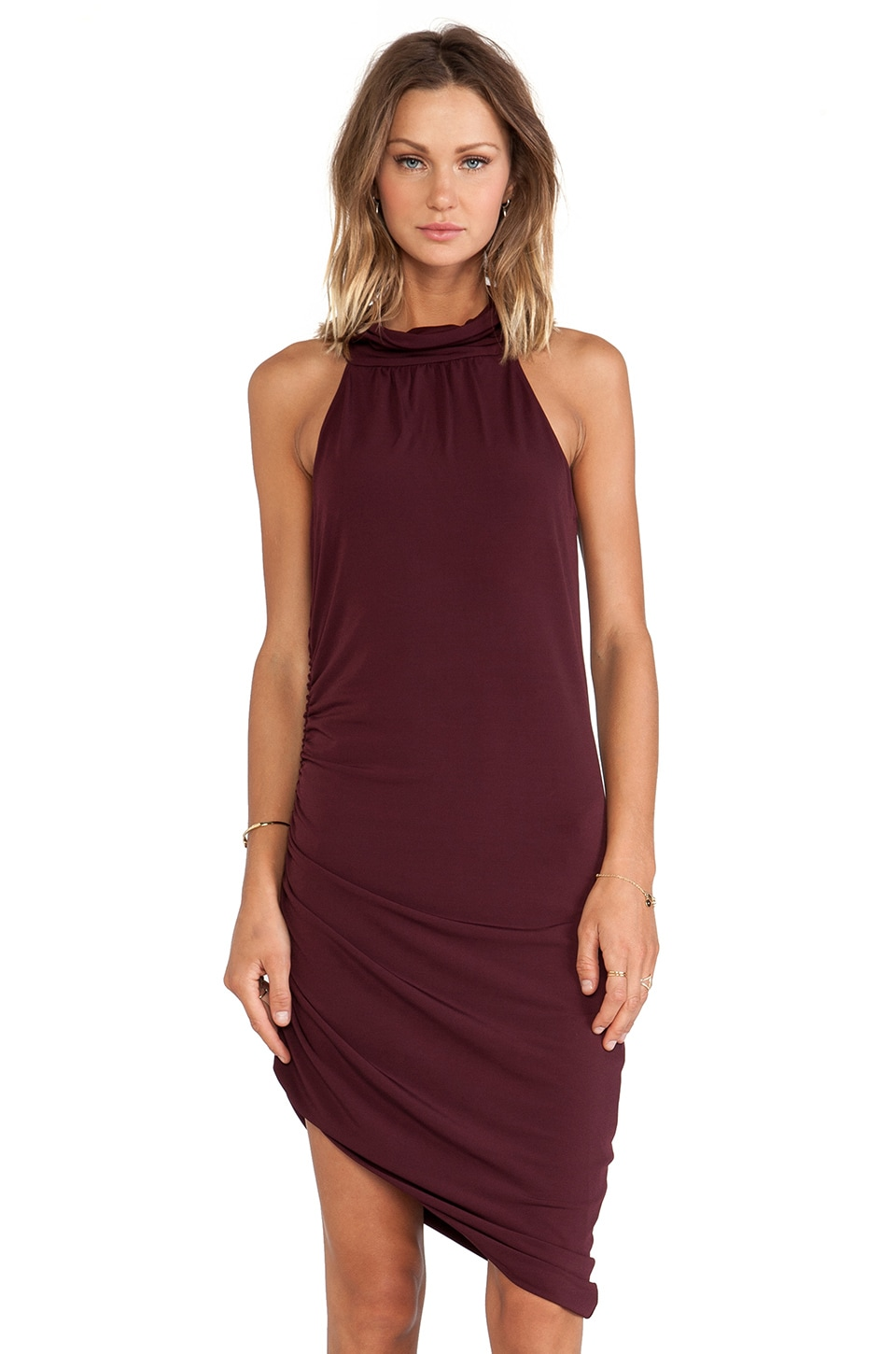 Backstage Lana Dress in Merlot
