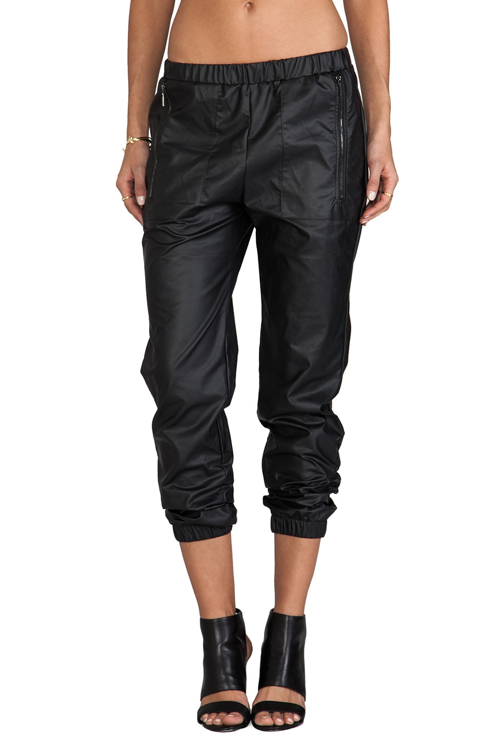 Backstage Phoenix Faux Leather Pant in Black