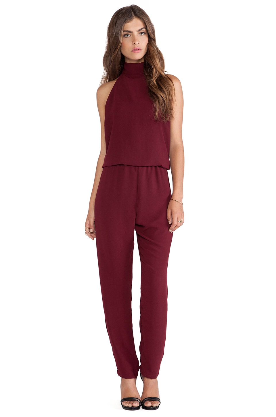 Backstage True Romance Jumpsuit in Merlot