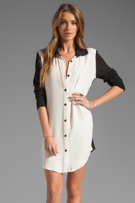 Backstage Anastacia Dress in Ivory/Black