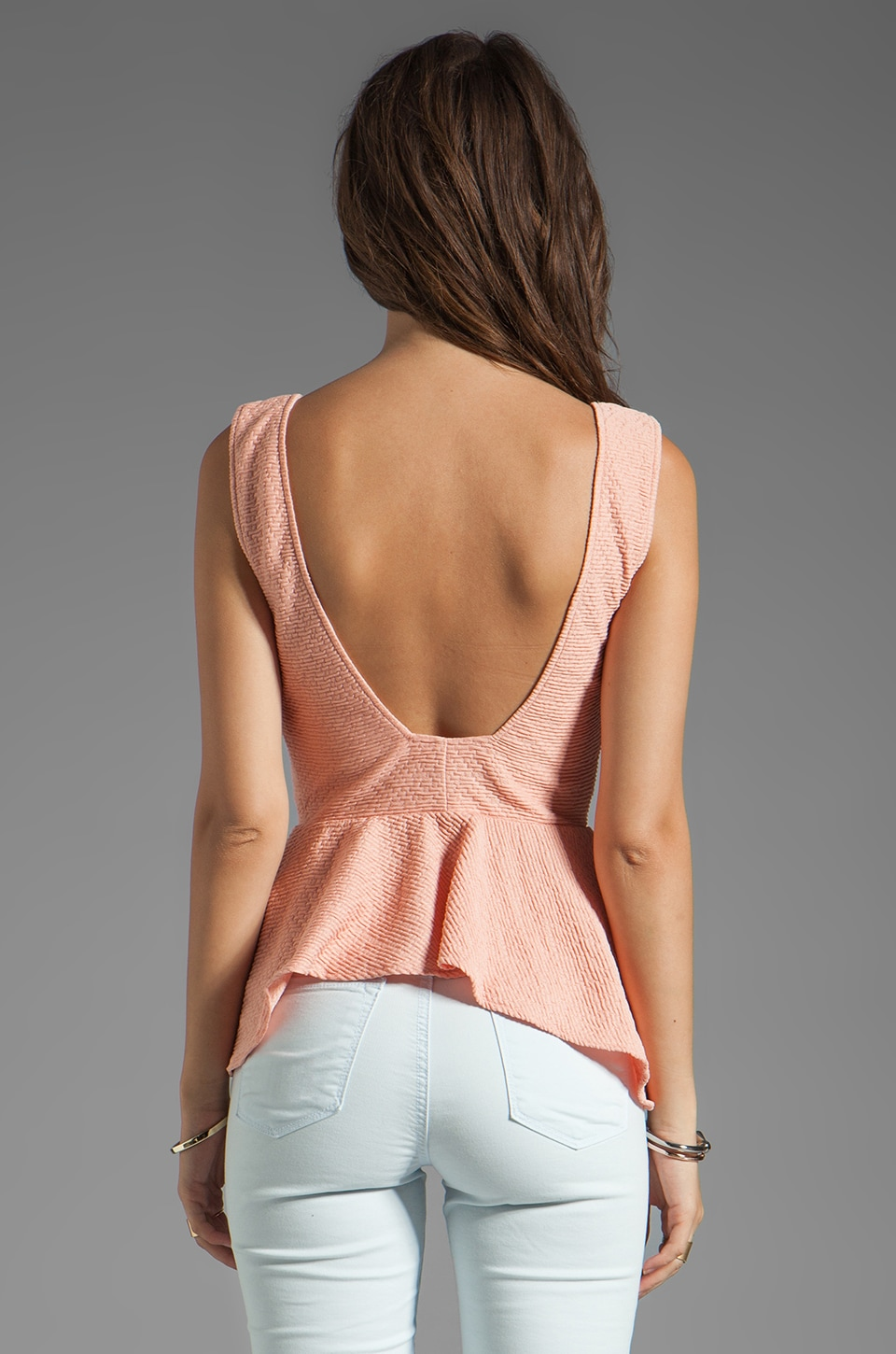 Backstage EXCLUSIVE Jessie Peplum Top in Sorbet