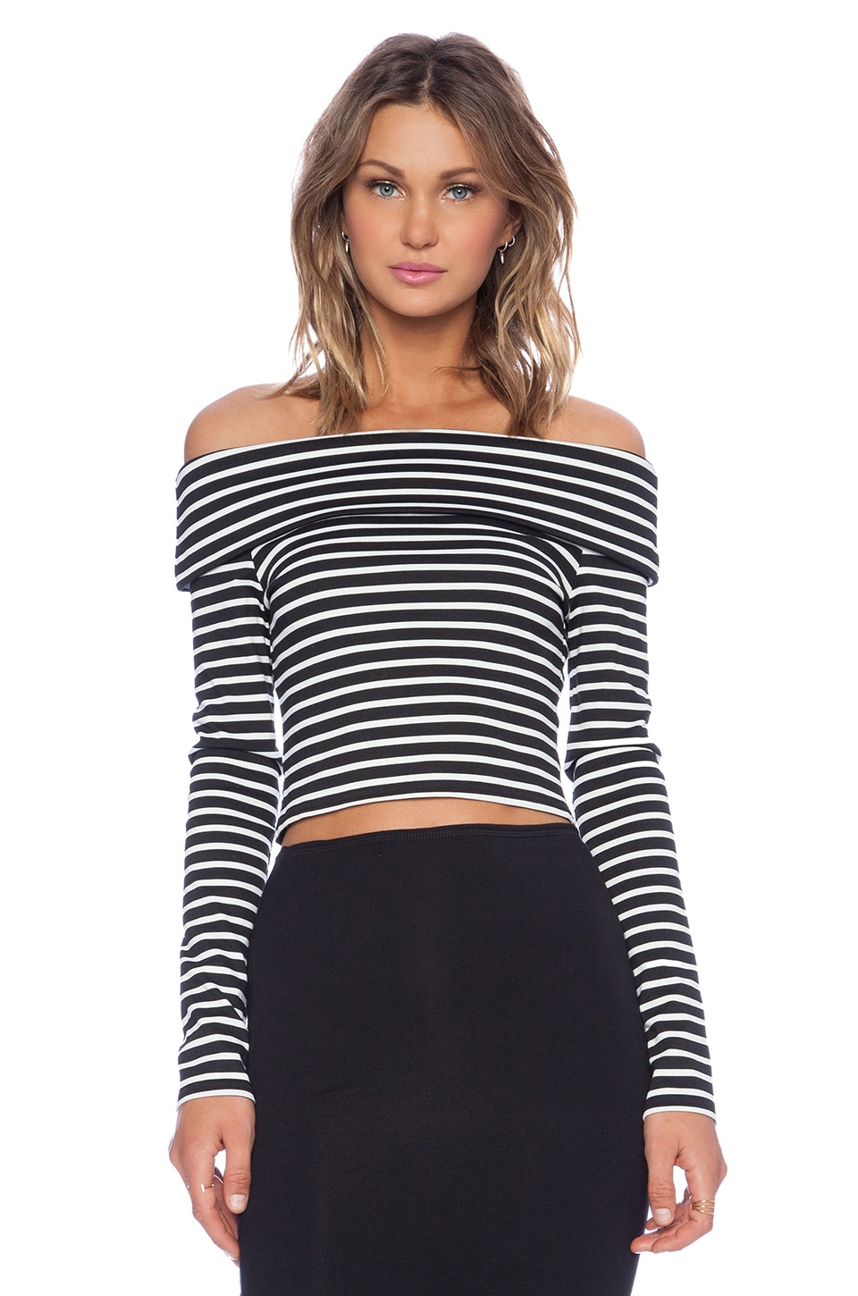 Backstage Karolina Top in Black Stripe