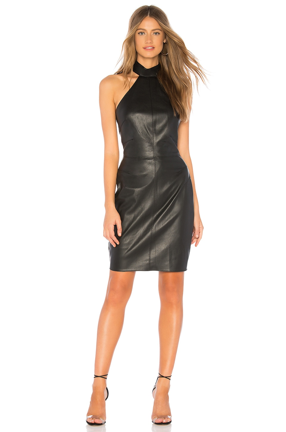 Bailey 44 Vig Eco Leather Dress in Black