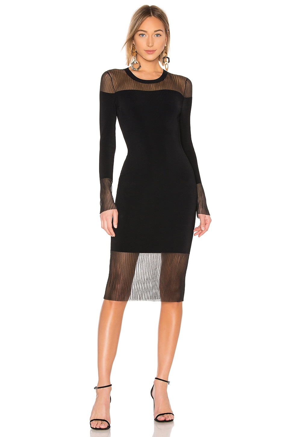 Bailey 44 Lovey Dovey Sweater Dress in Black