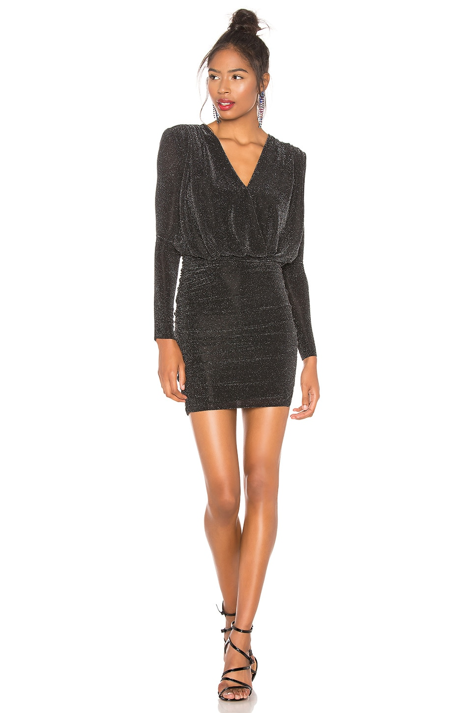 Bailey 44 Night Fever Sparkle Dress in Black