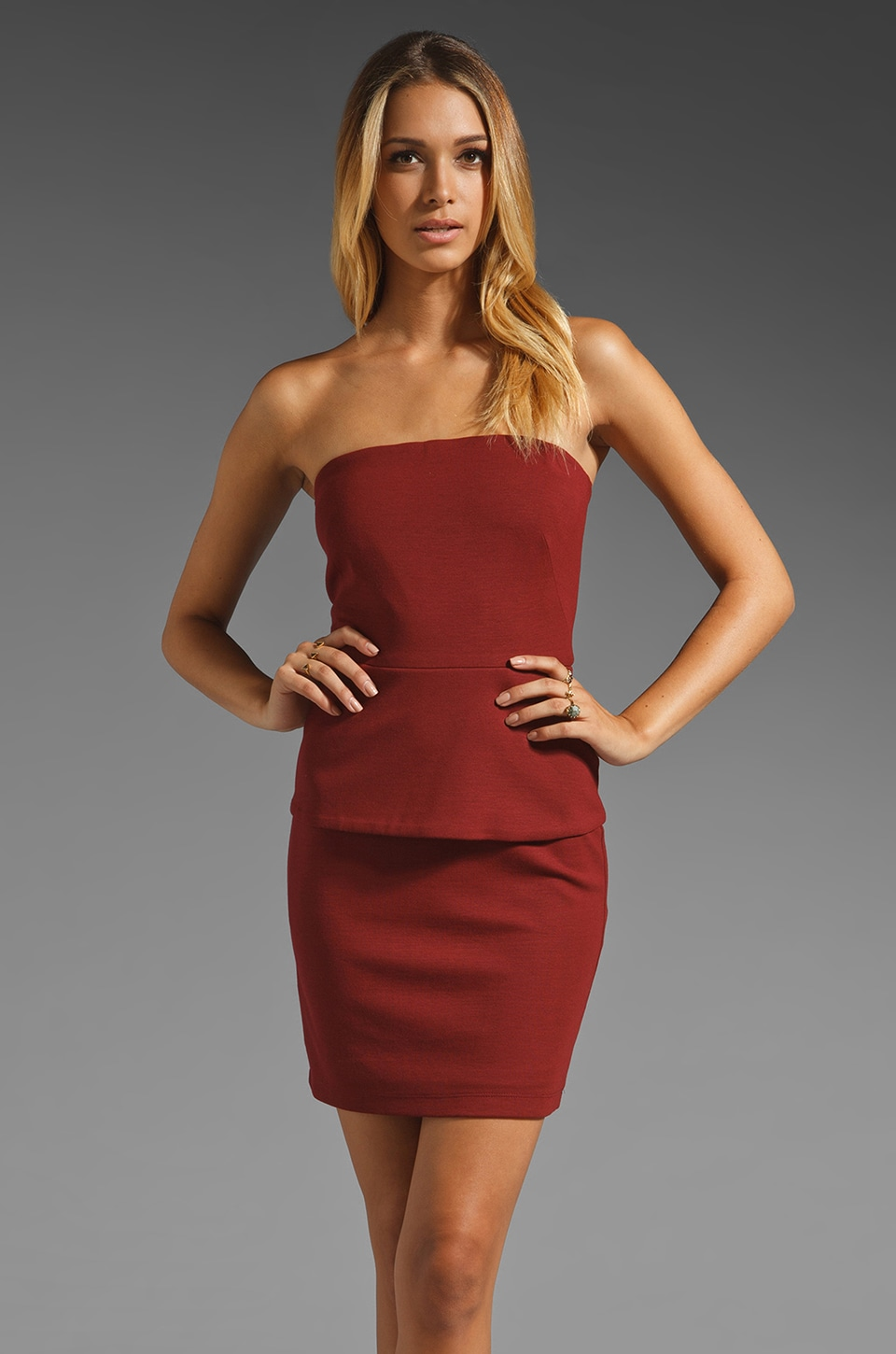 Bailey 44 Dorm Life Peplum Dress in Red