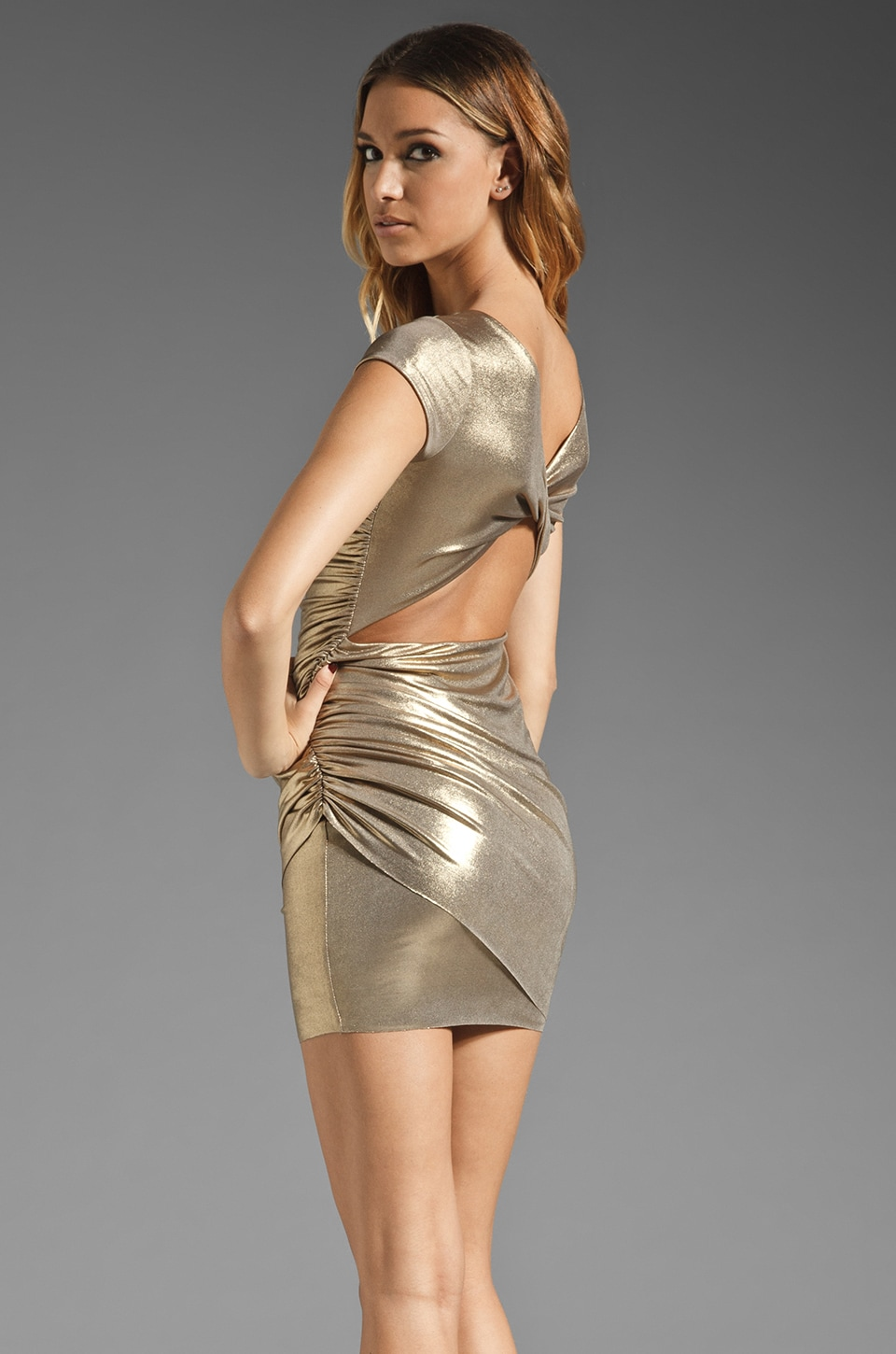 Bailey 44 Iron Maiden Dress in Gold