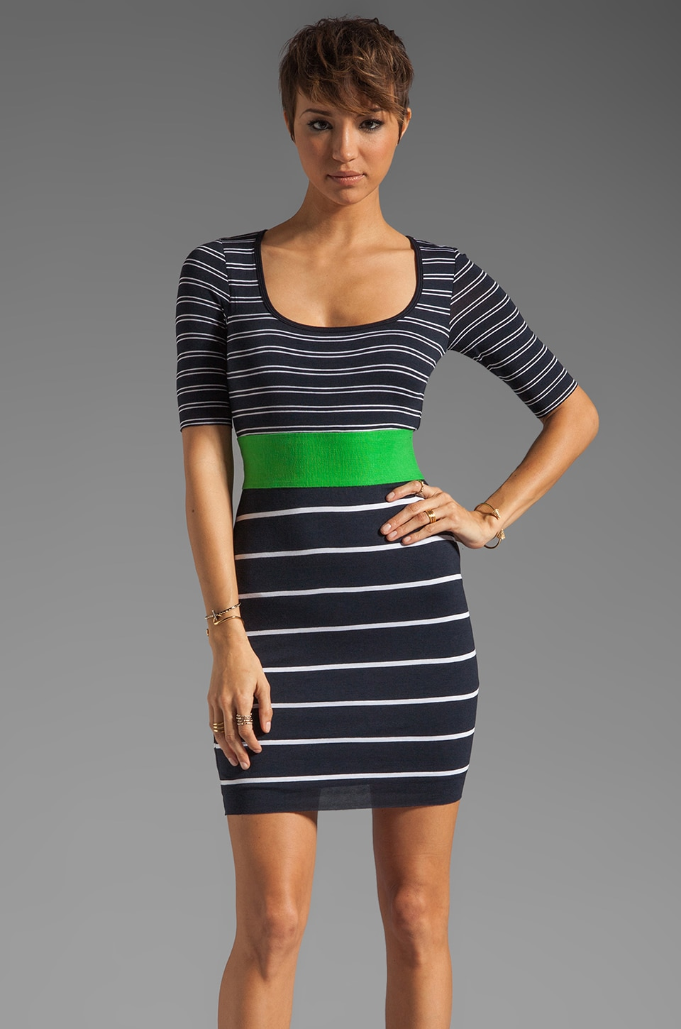 Bailey 44 Synchronized Diving Dress in Navy/Green