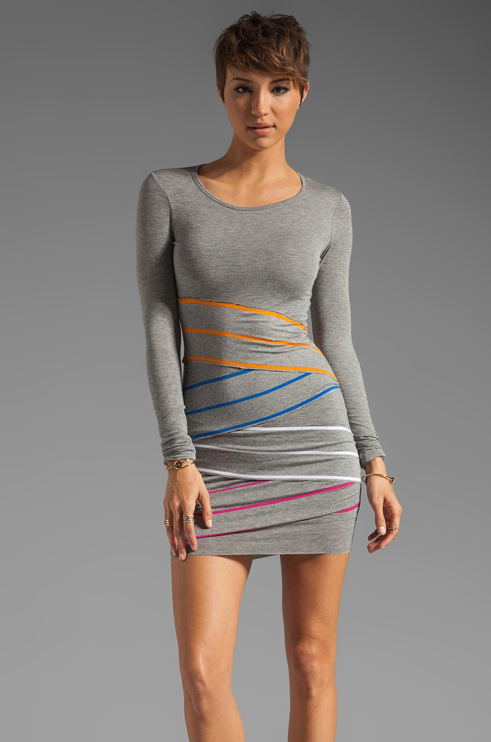 Bailey 44 Long Sleeve Triathlon Dress in Grey