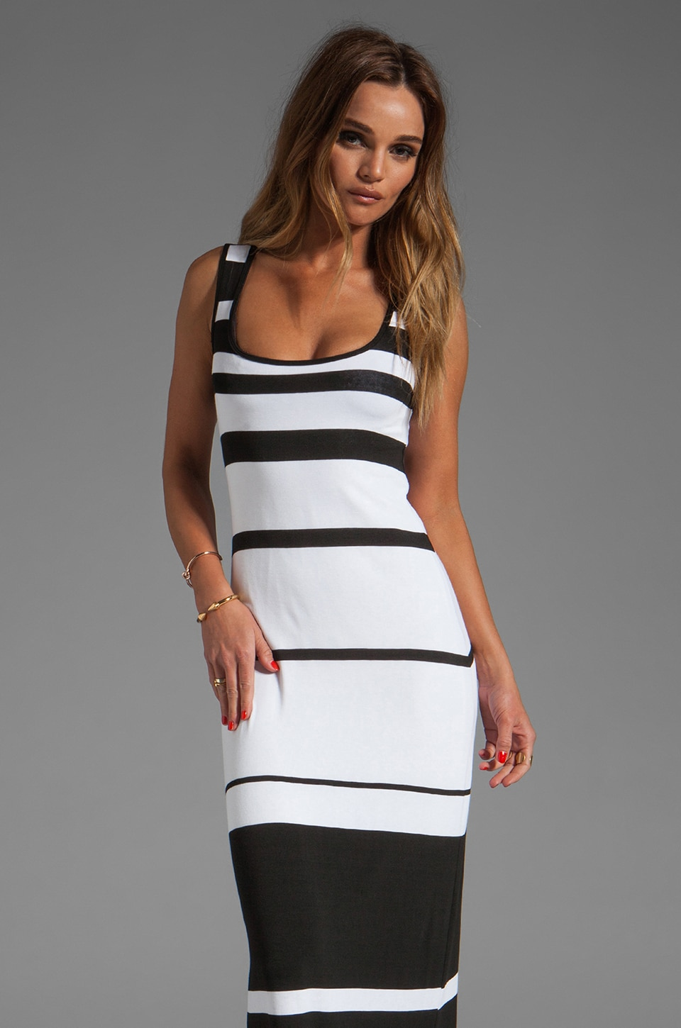 Bailey 44 Co-Driver Dress in Black/White