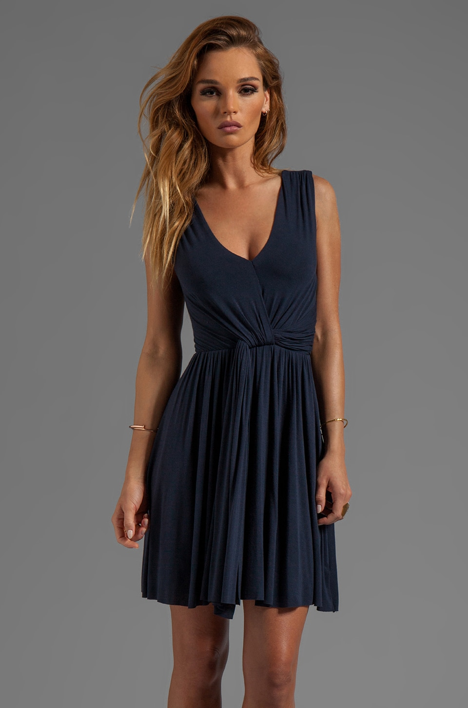Bailey 44 Madrigal Pleated Dress in Navy