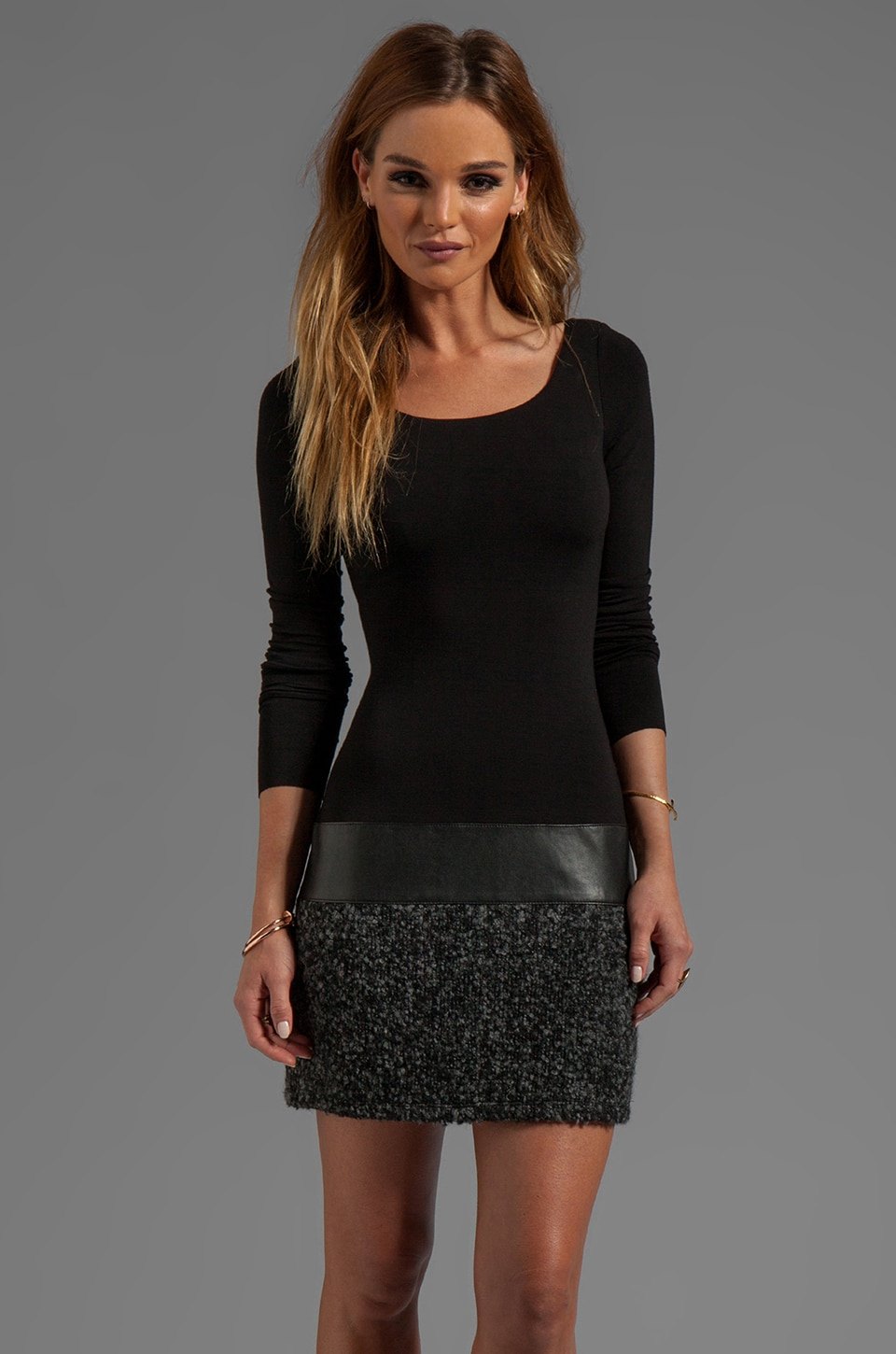 Bailey 44 Allegory Long Sleeve Dress in Black/Grey