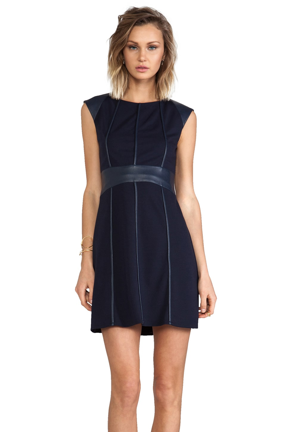 Bailey 44 Caged Bird Dress in Navy