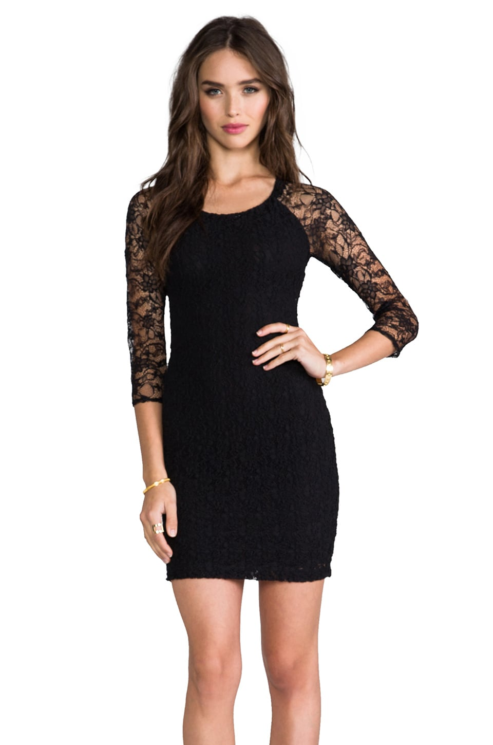 Bailey 44 Popcorn Dress in Black
