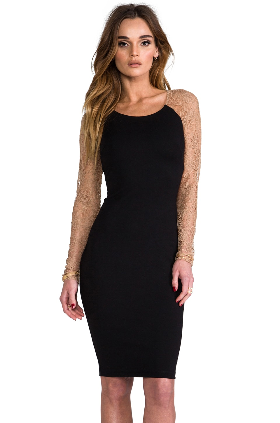 Bailey 44 Bloody Mary Dress in Black & Nude