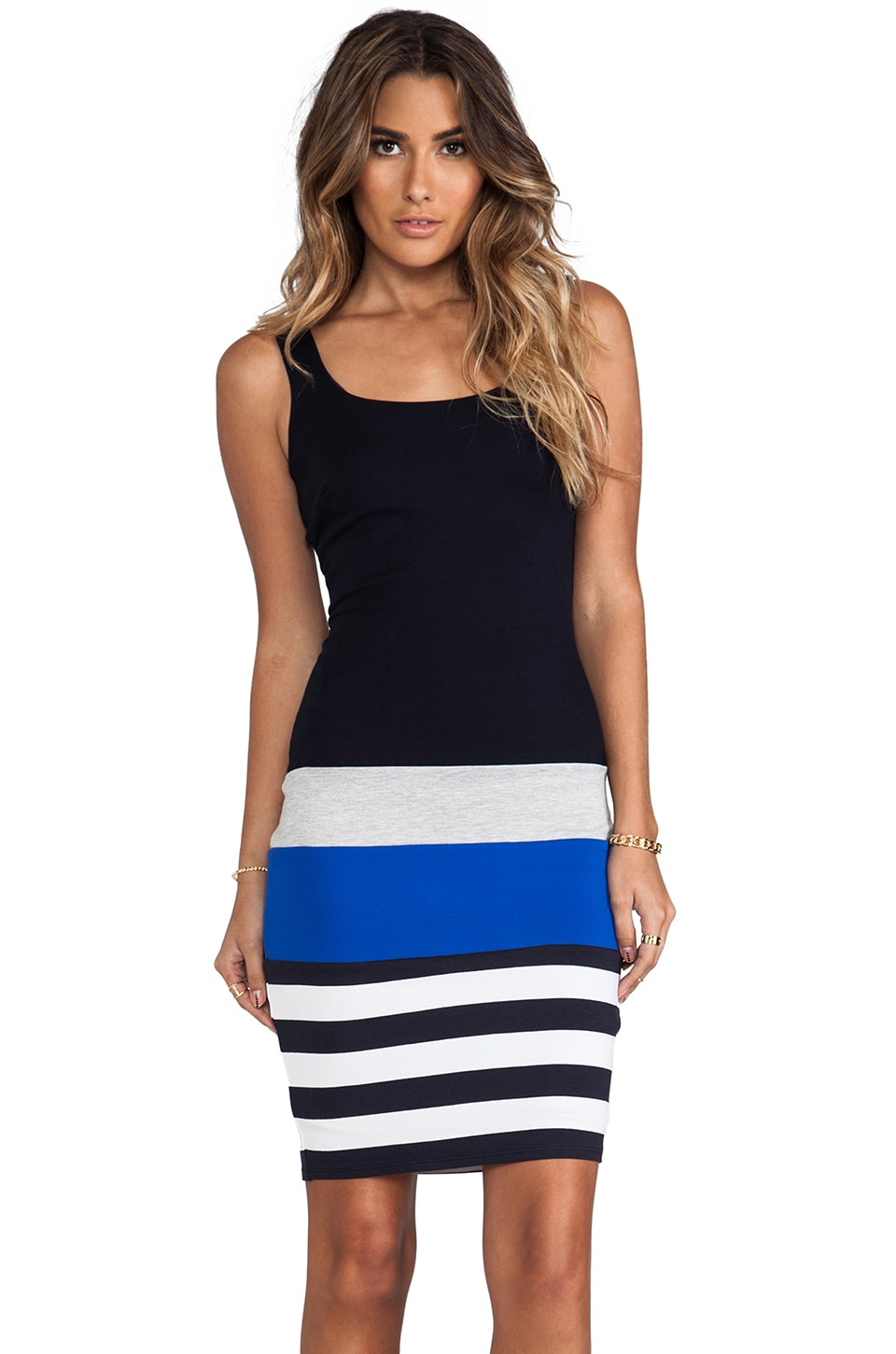 Bailey 44 Breakaway Dress in Navy & Cobalt