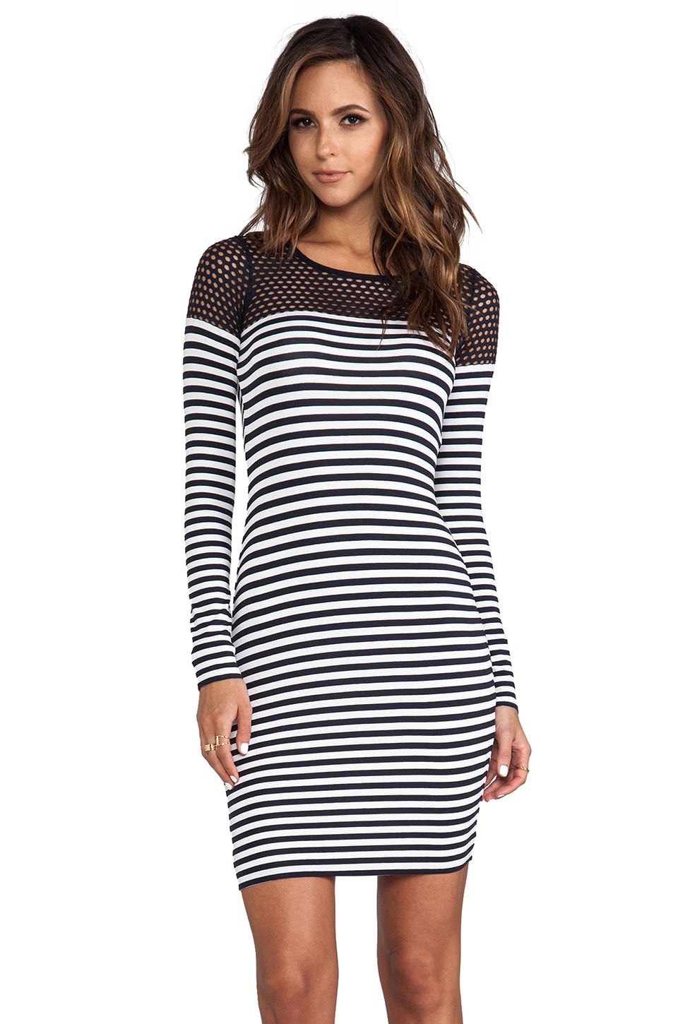 Bailey 44 Open Net Dress in Stripe
