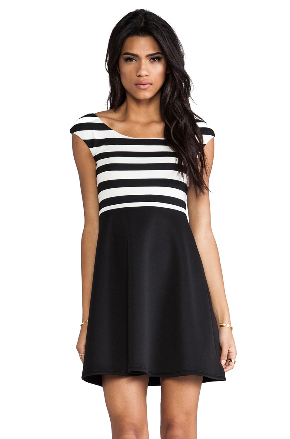 Bailey 44 Living Doll Dress in Chalk & Black