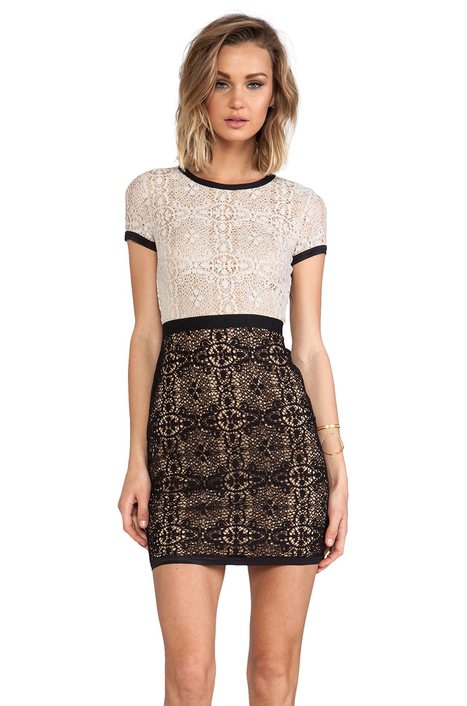 Bailey 44 Yvette Dress in Beige & Black
