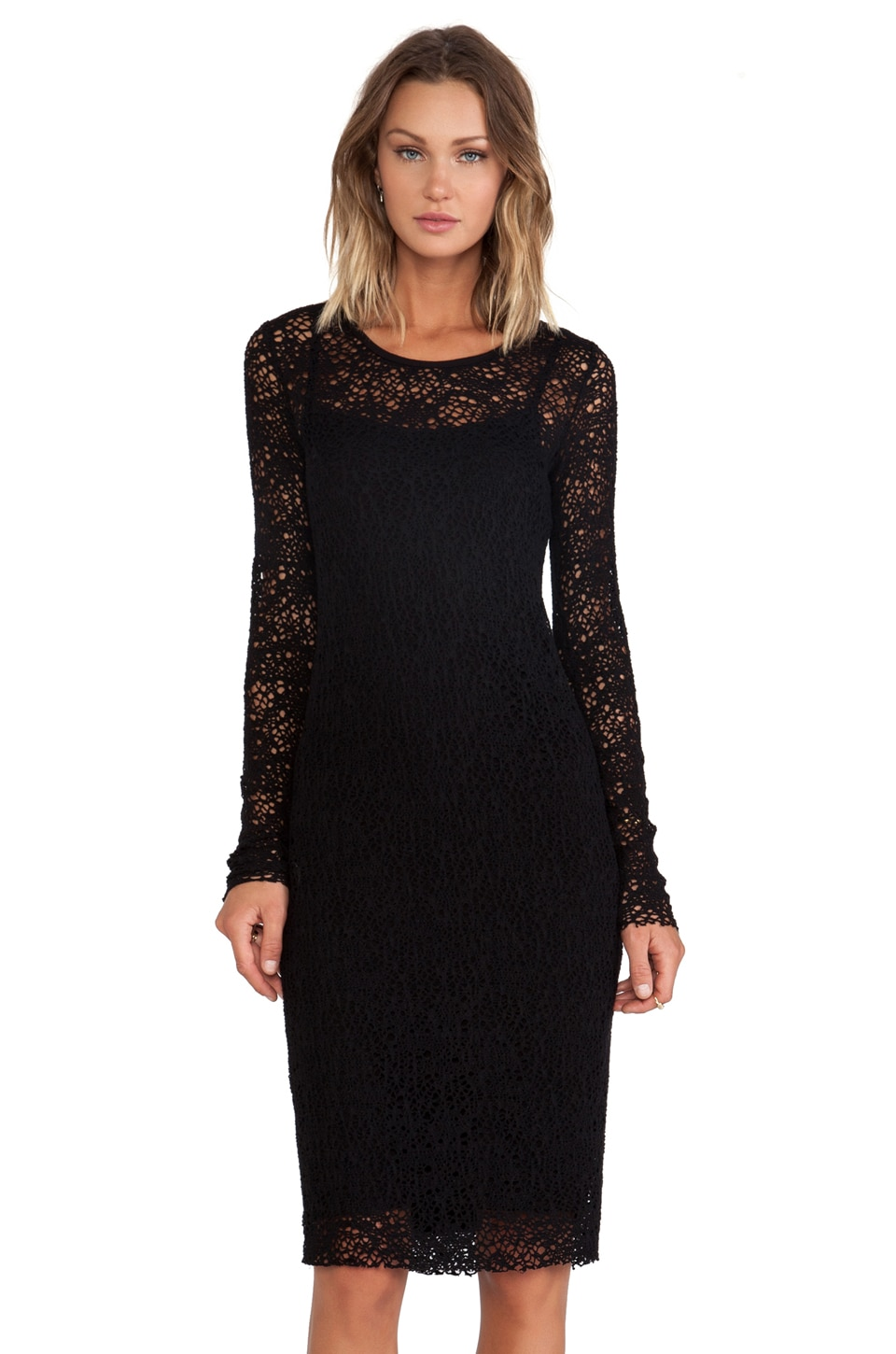 Bailey 44 Snow Crystal Dress in Black