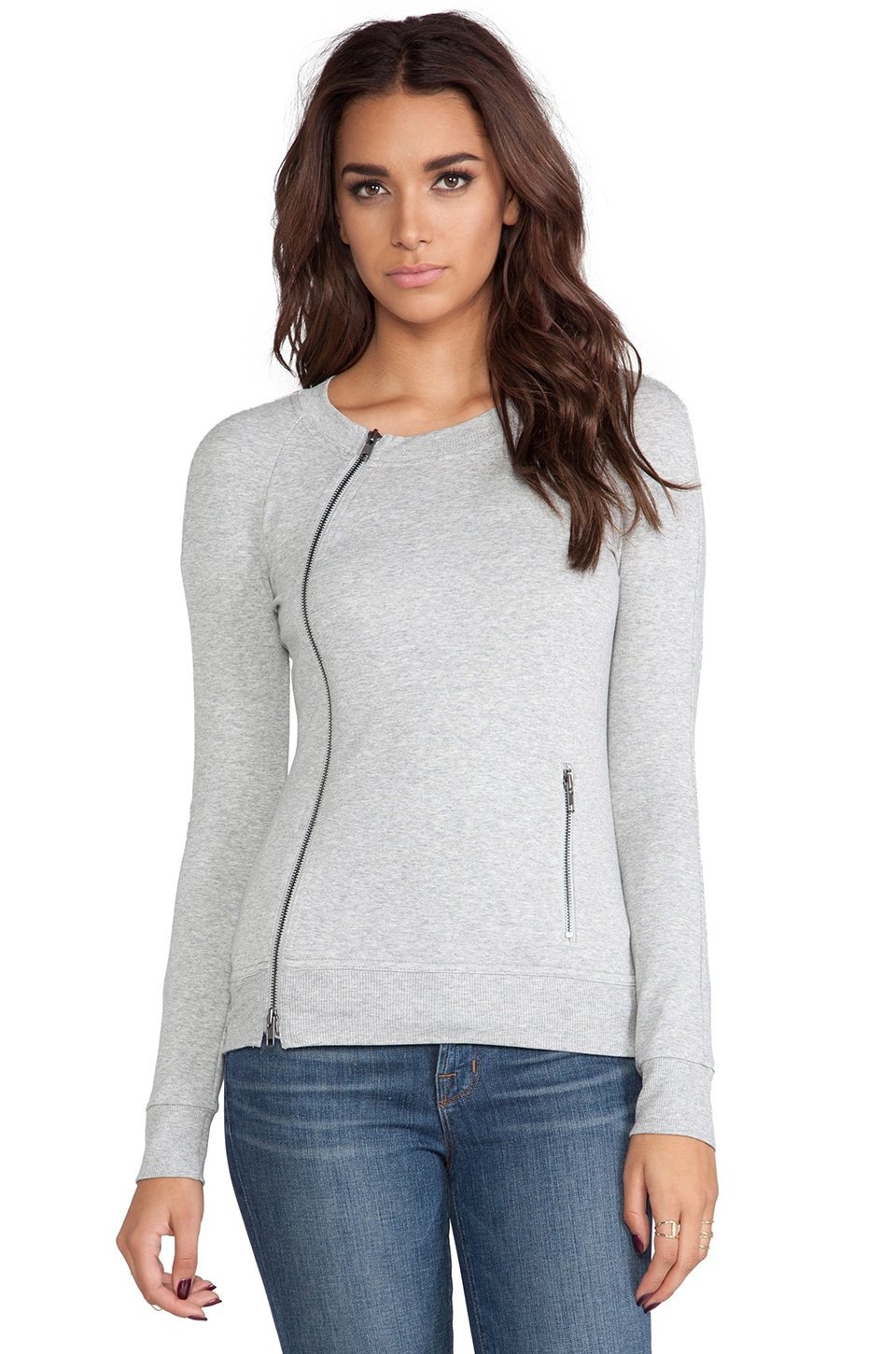 Bailey 44 Corner Kick Cardigan in Heather Grey