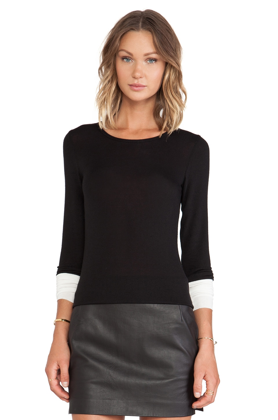 Bailey 44 Bunny Slope Sweater in Black & Snow
