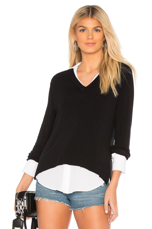 Bailey 44 Grand Duke Sweater Top in Black & Chalk
