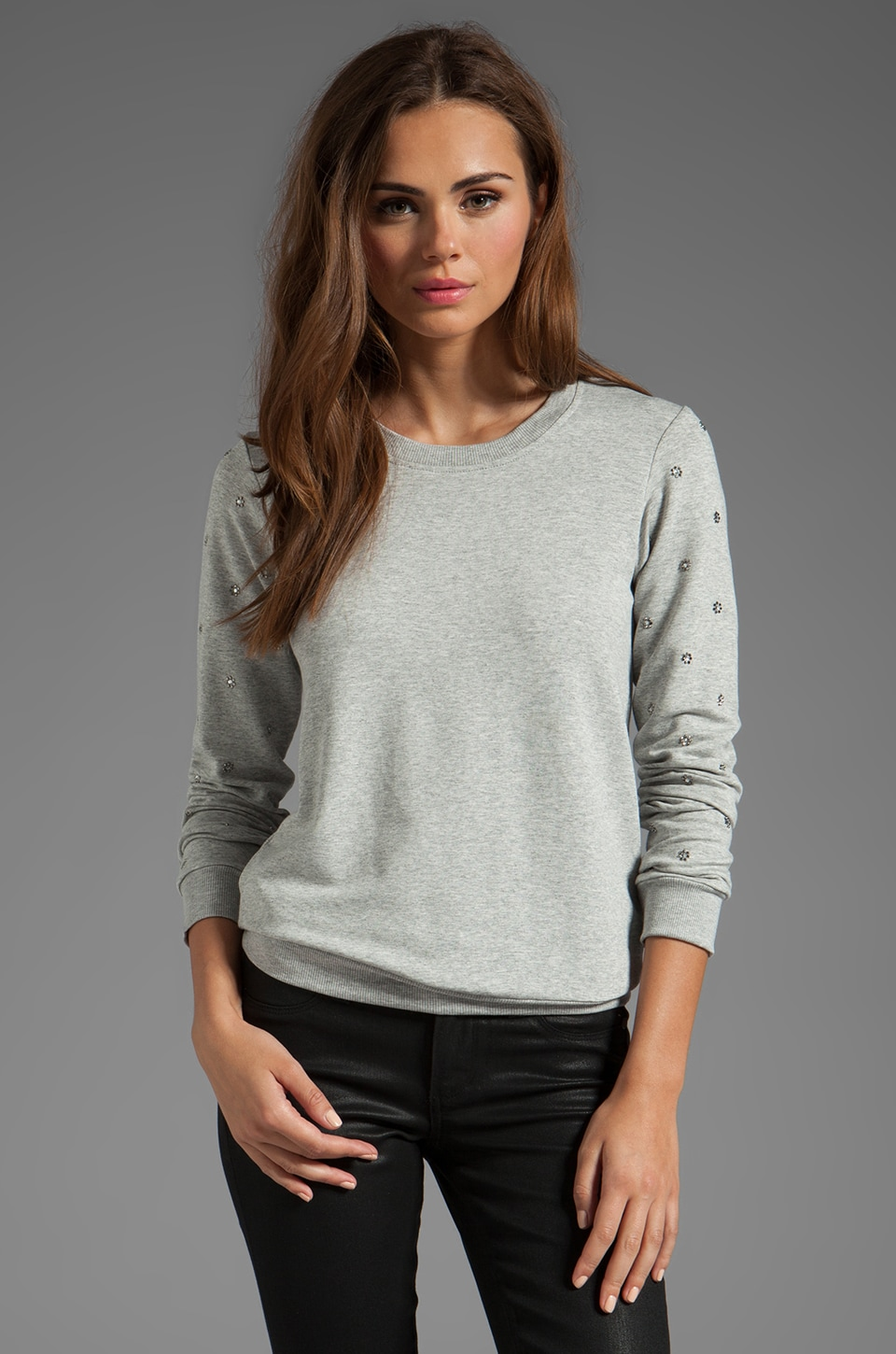 Bailey 44 Bright Star Sweatshirt in Light Heather Grey