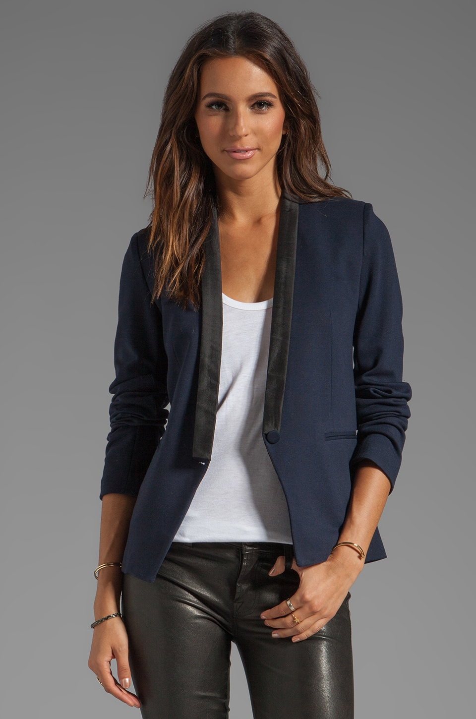 Bailey 44 Road Not Taken Blazer in Navy with Black Trim