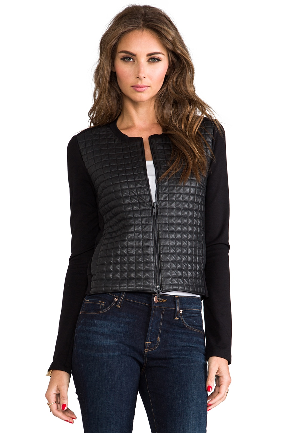 Bailey 44 Off the Grid Quilted Leather Jacked in Black