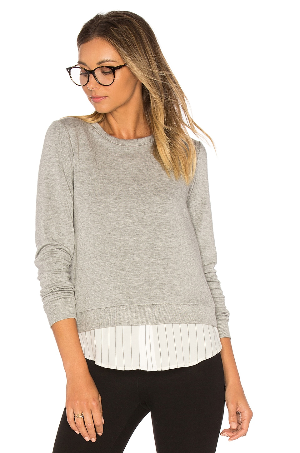 Bailey 44 Soft Shackel Sweatshirt in Heather Grey