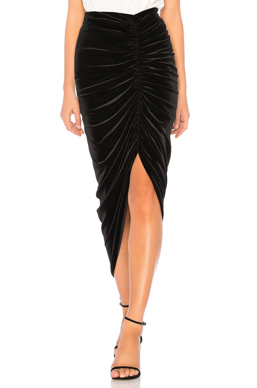 Bailey 44 Any Seven Velvet Skirt in Black