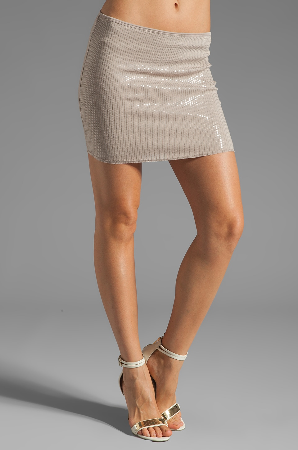 Bailey 44 Sequin Plankton Skirt in Beige