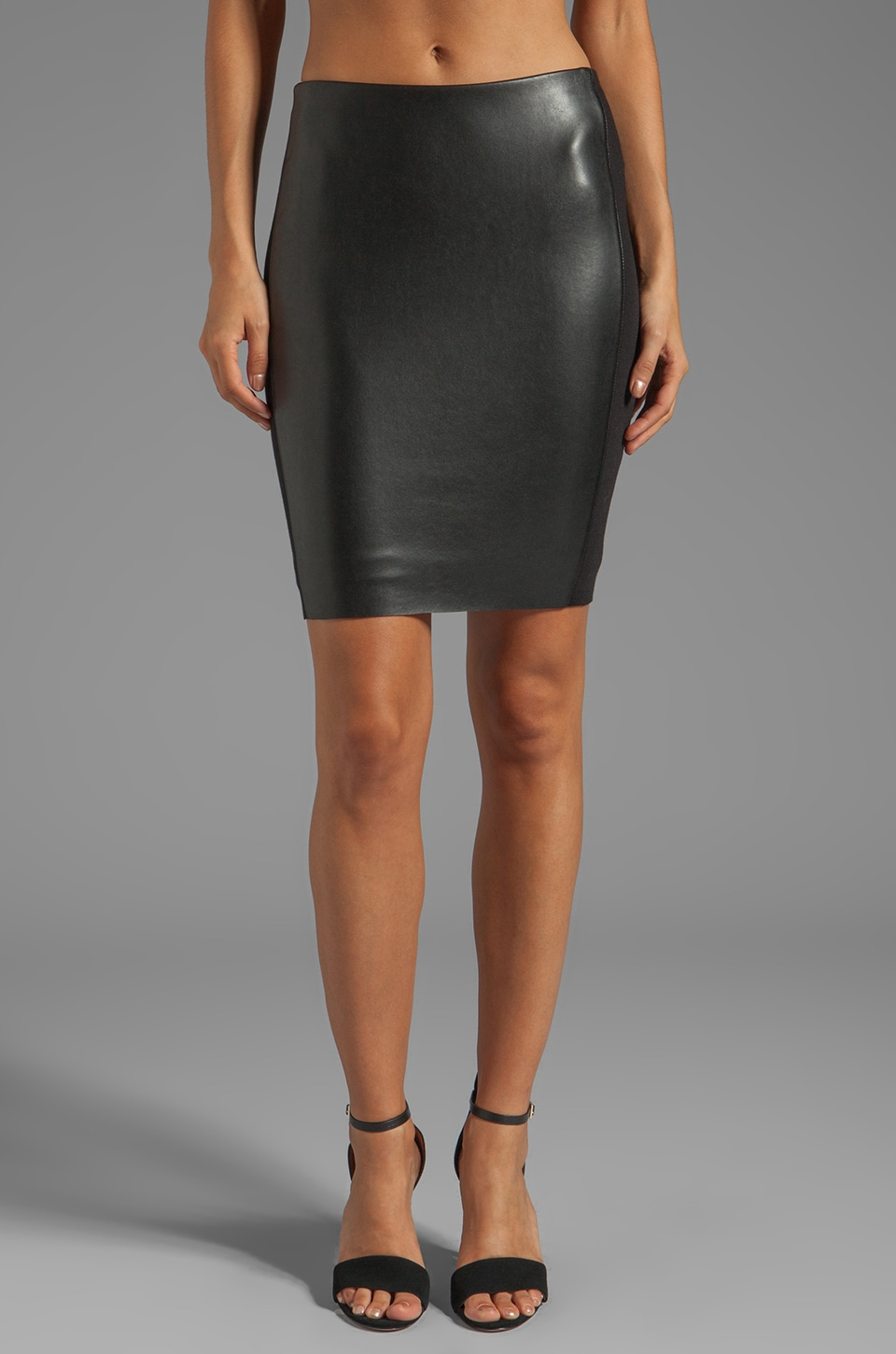Bailey 44 She Walks in Beauty Leather Pencil Skirt in Black