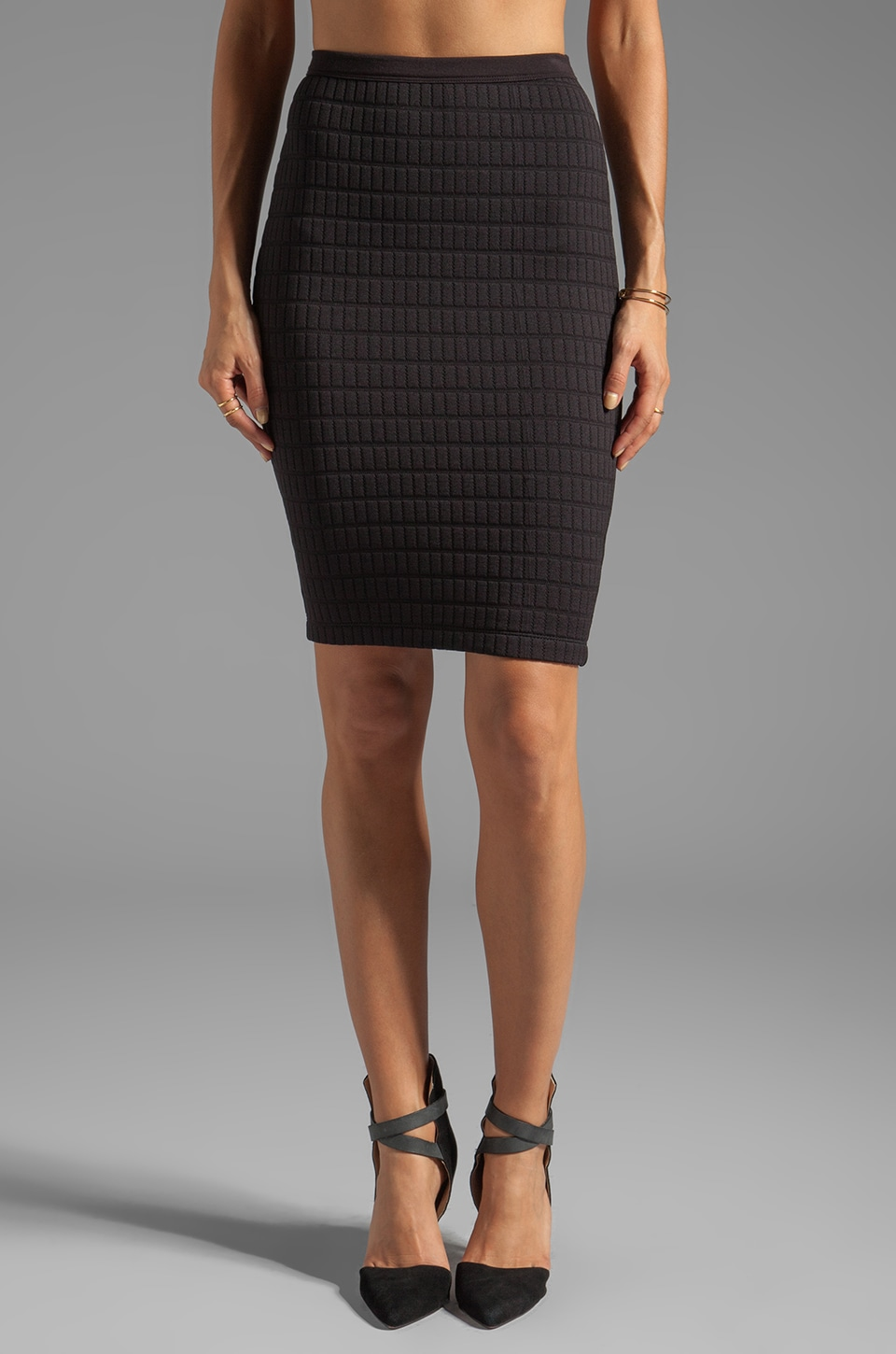 Bailey 44 Scanner Quilted Pencil Skirt in Black