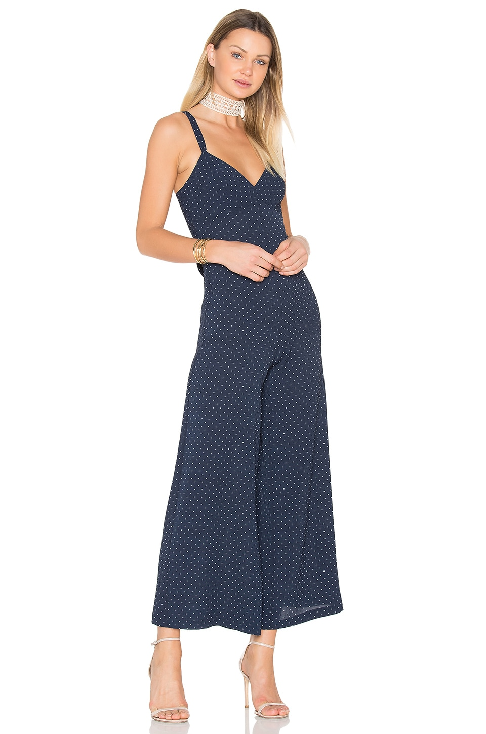 Bailey 44 Martingale Jumpsuit in Navy Ground