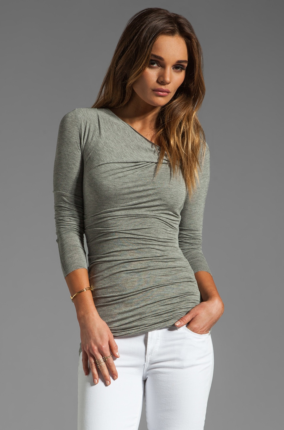 Bailey 44 Tie Breaker Top in Grey