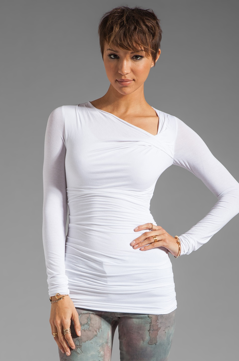 Bailey 44 Tie Breaker Top in White