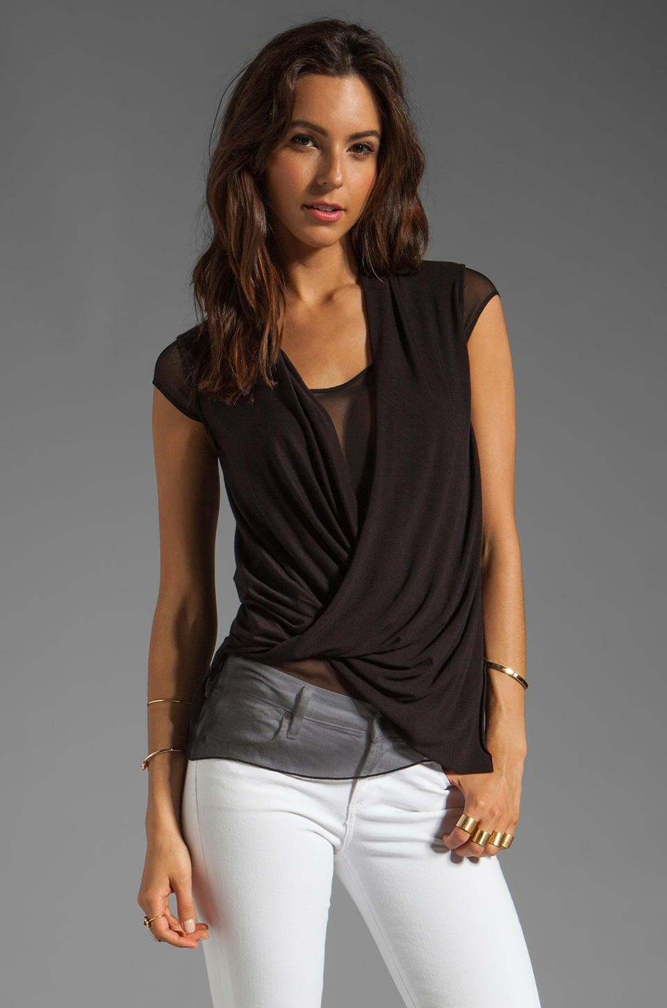Bailey 44 Treacherous Turn Top in Black