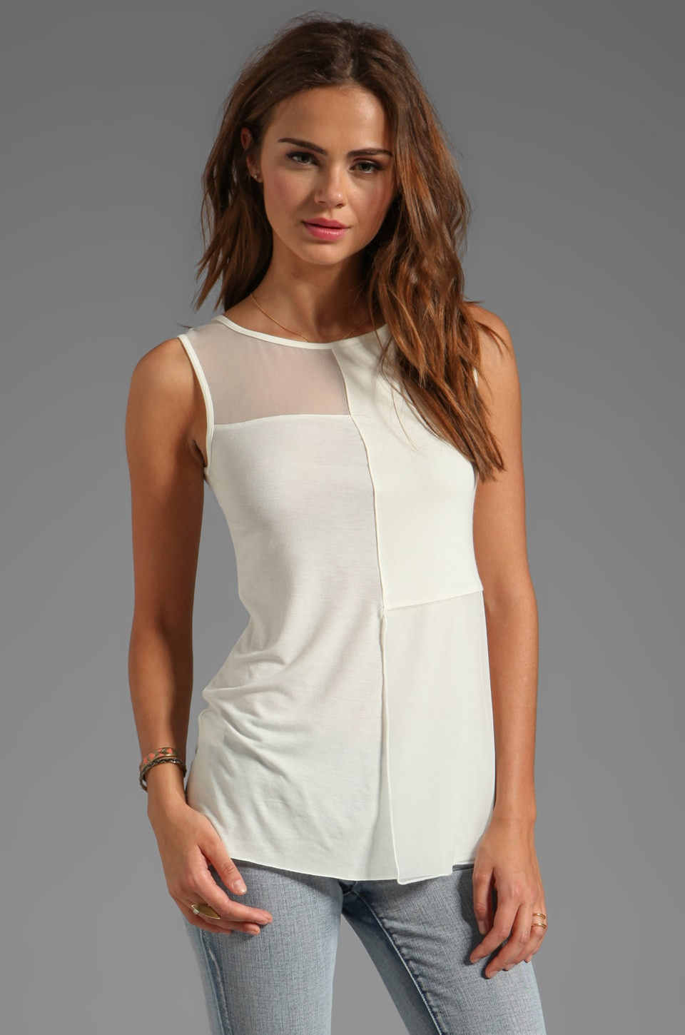 Bailey 44 Origami Top in Creme