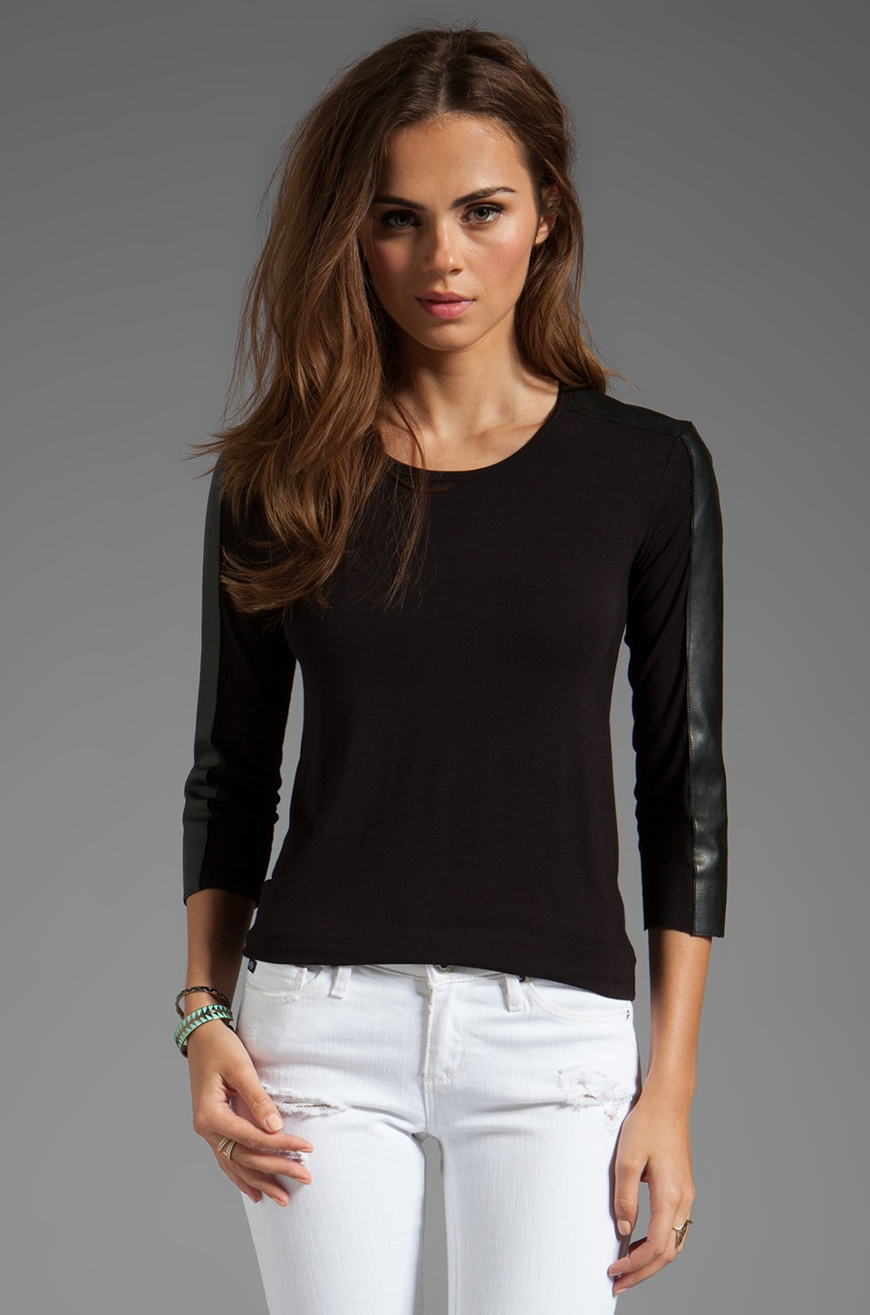 Bailey 44 Solid Couplet Top in Black