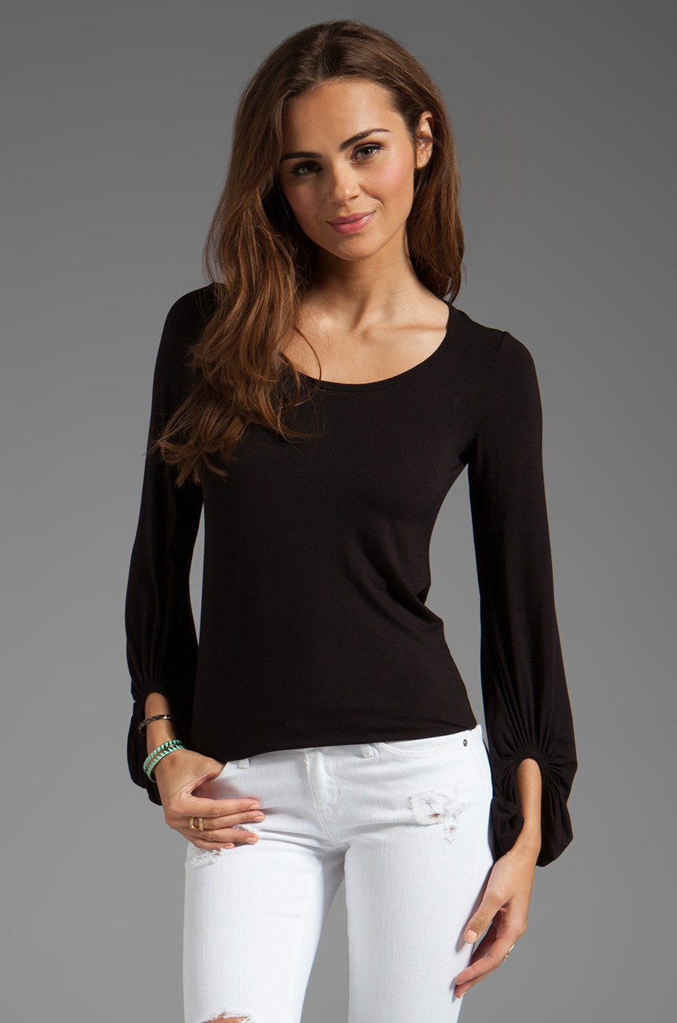 Bailey 44 Bronte Long Sleeve Top in Black
