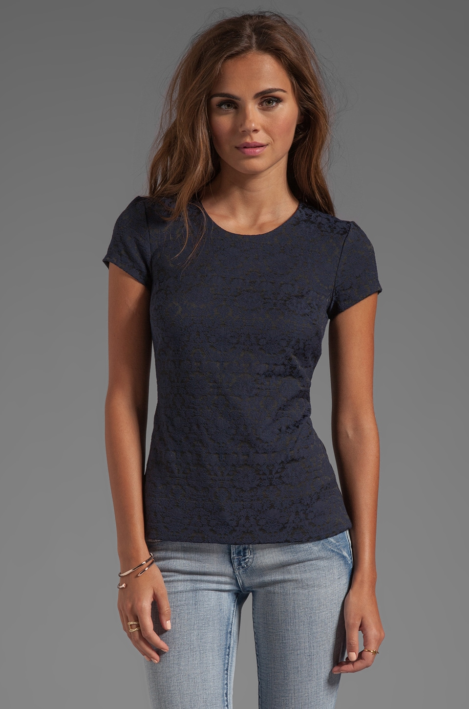 Bailey 44 Chaucer Baroque Top in Navy
