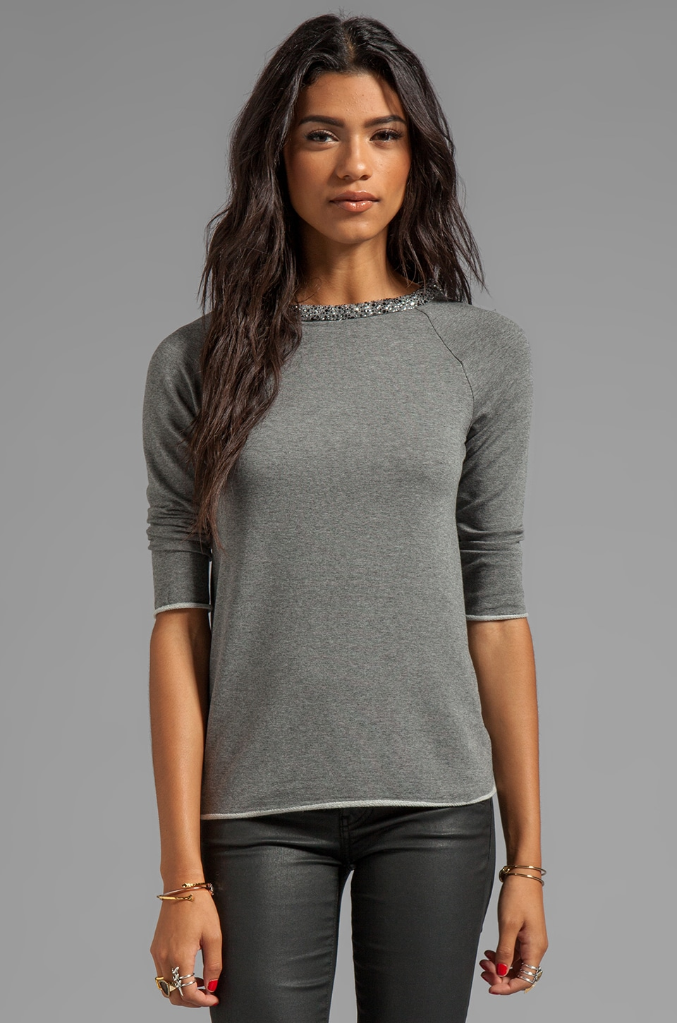 Bailey 44 Paradox Embellished Top in Mercury Heather