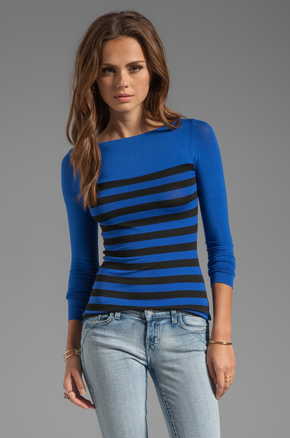 Bailey 44 Text Me Top in Black/Blue