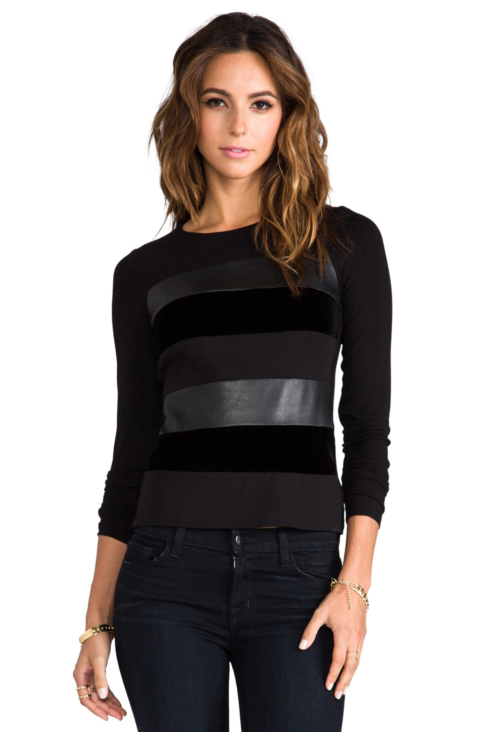 Bailey 44 Demon Vendetta Striped Top in Black