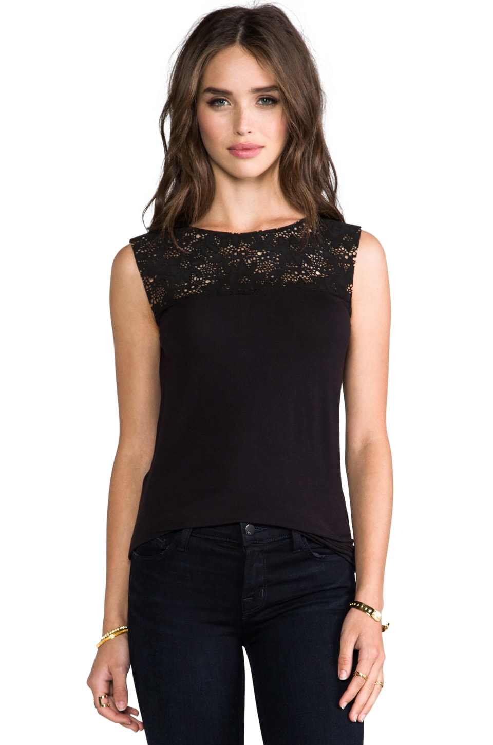 Bailey 44 Truth or Dare Top in Black