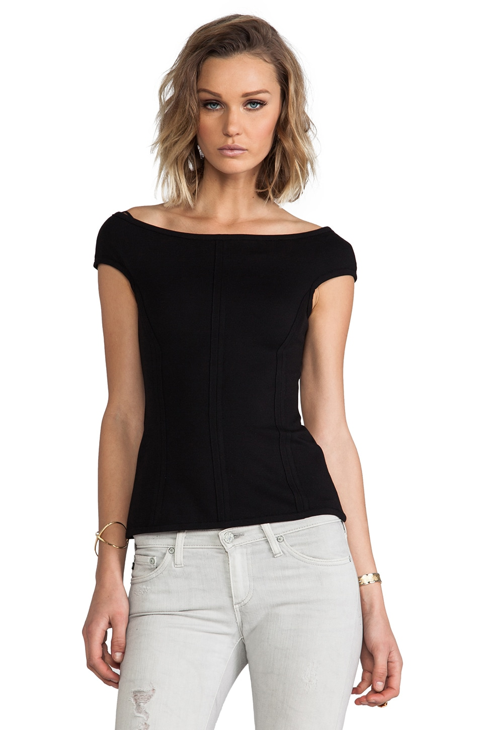 Bailey 44 Audrey Top in Black