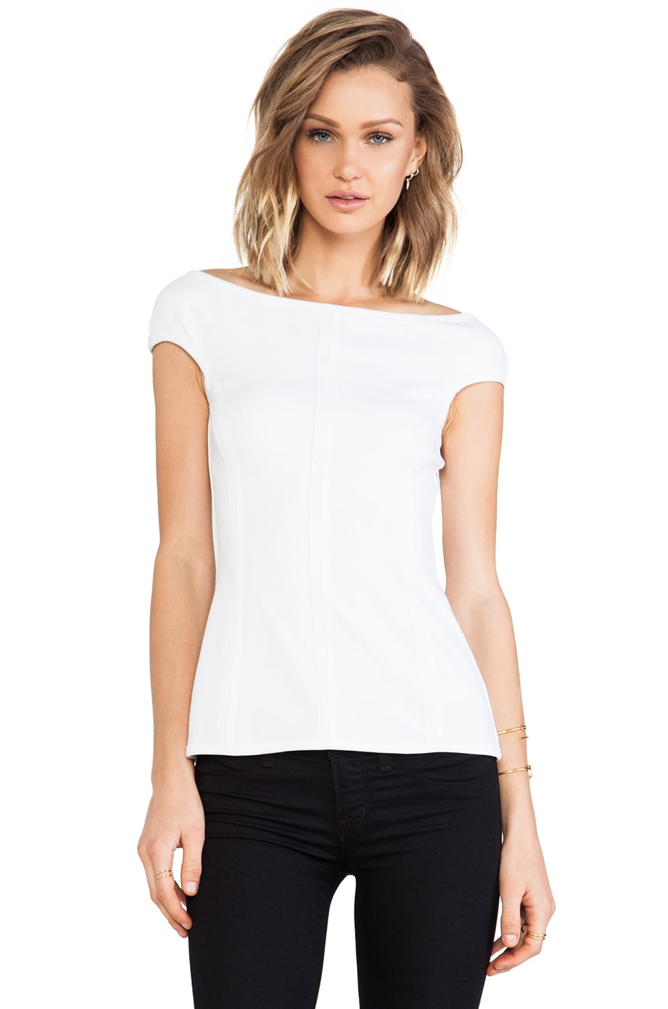 Bailey 44 Audrey Top in White