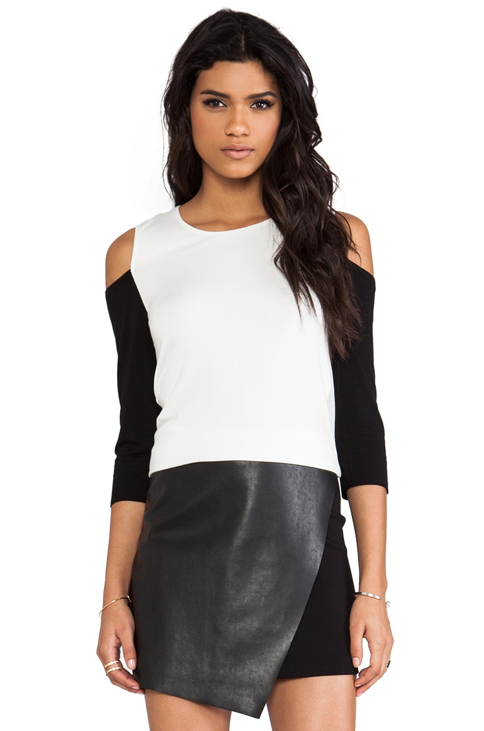 Bailey 44 Funana Top in Alabaster & Black